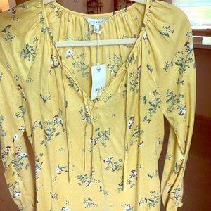 Lucky Brand yellow flower XS